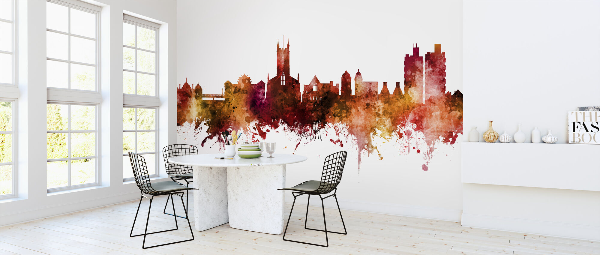 Stoke-on-Trent England Skyline - Wallpaper - Kitchen