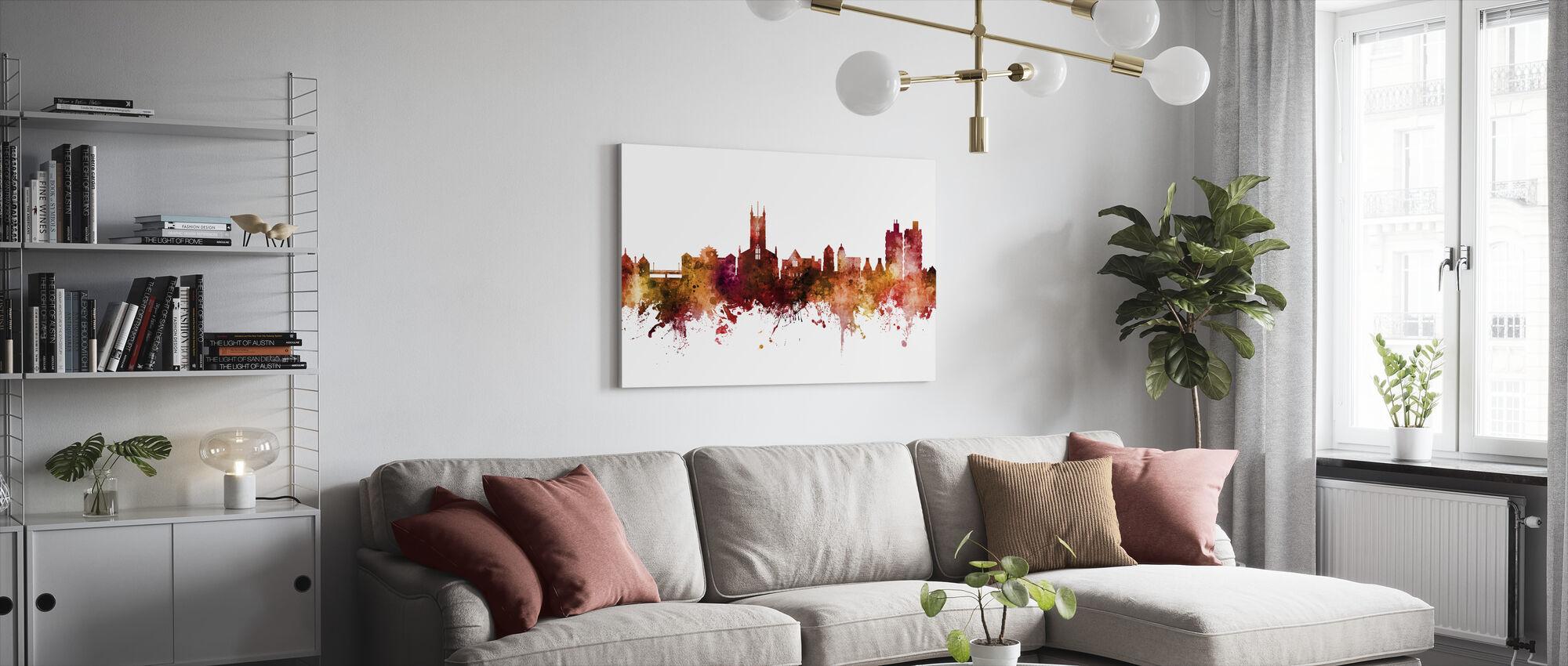 Stoke-on-Trent England Skyline - Impression sur toile - Salle à manger