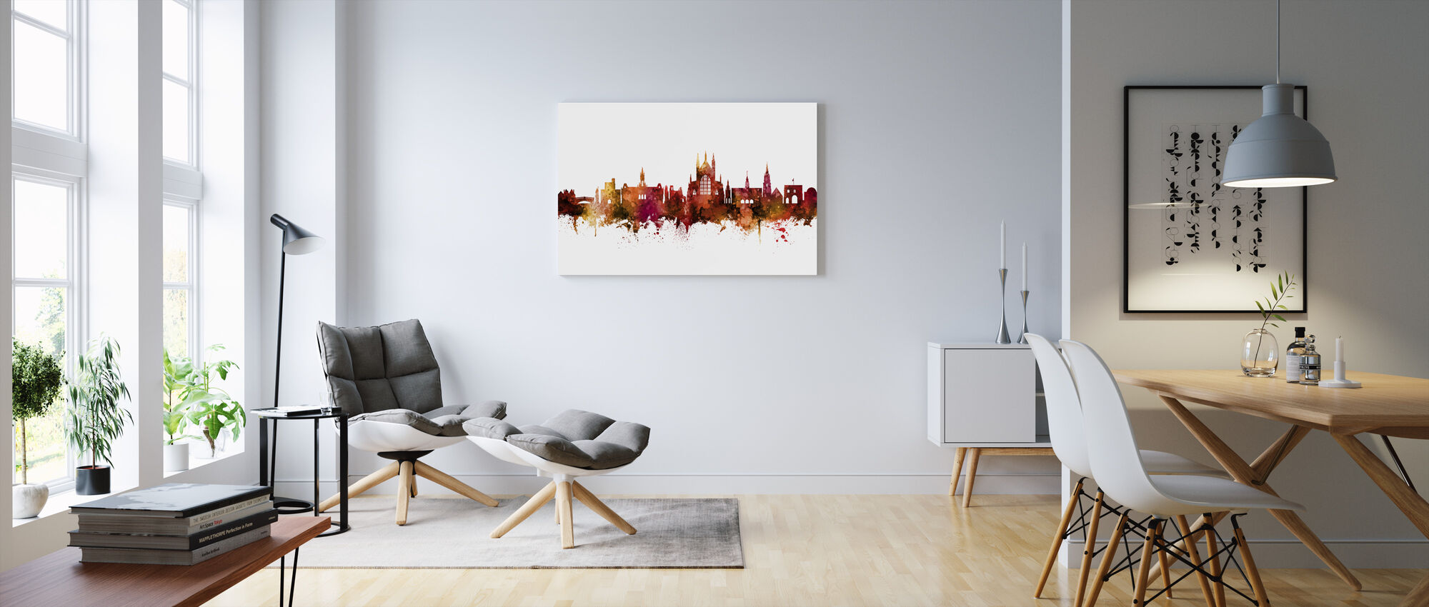 Winchester England Skyline - Canvas print - Living Room