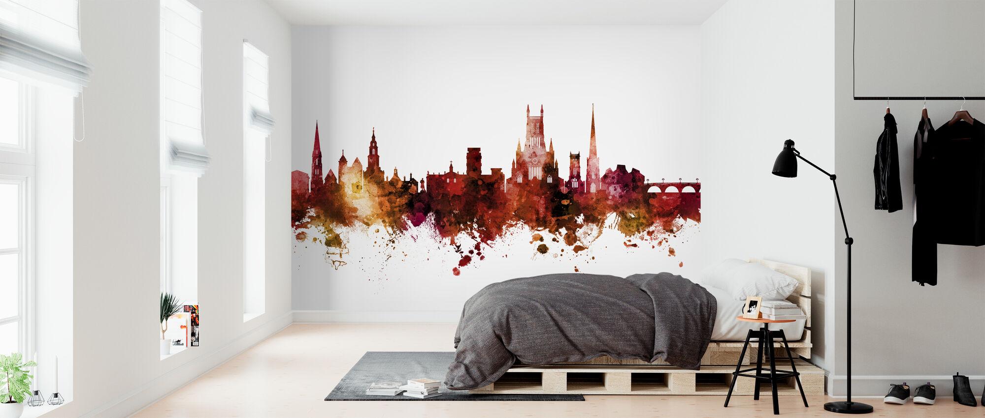 Worcester England Skyline - Wallpaper - Bedroom