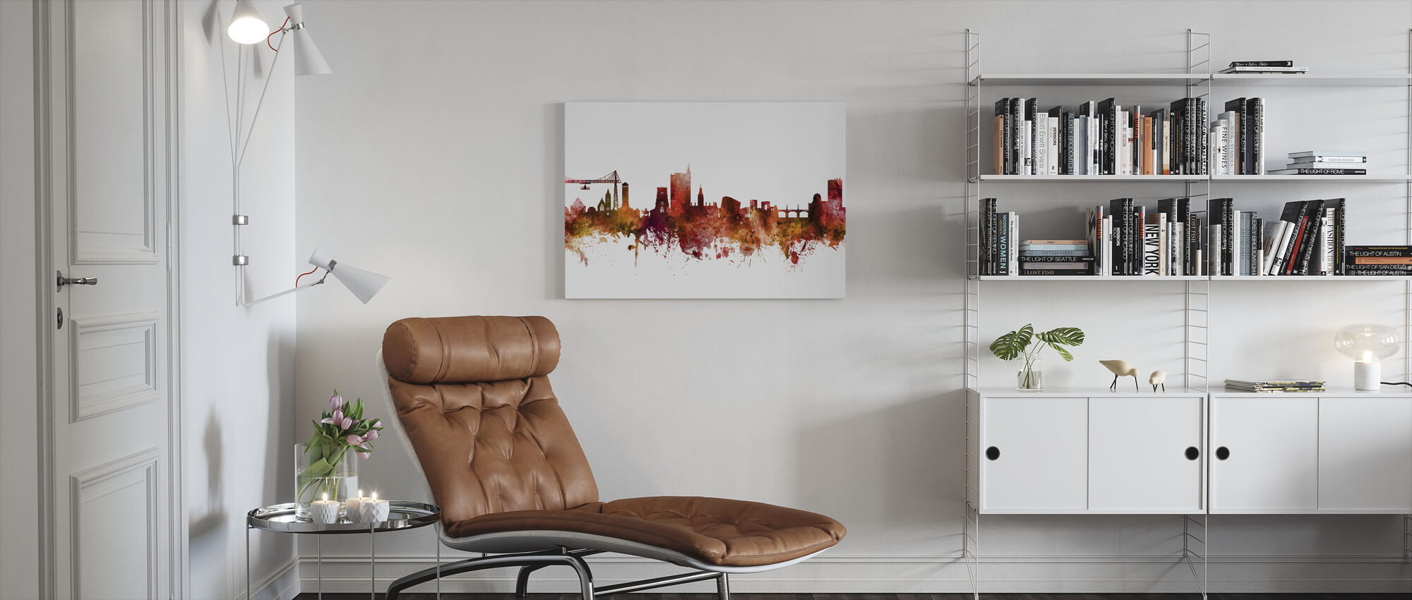 Newport Wales Skyline - Canvas print - Living Room