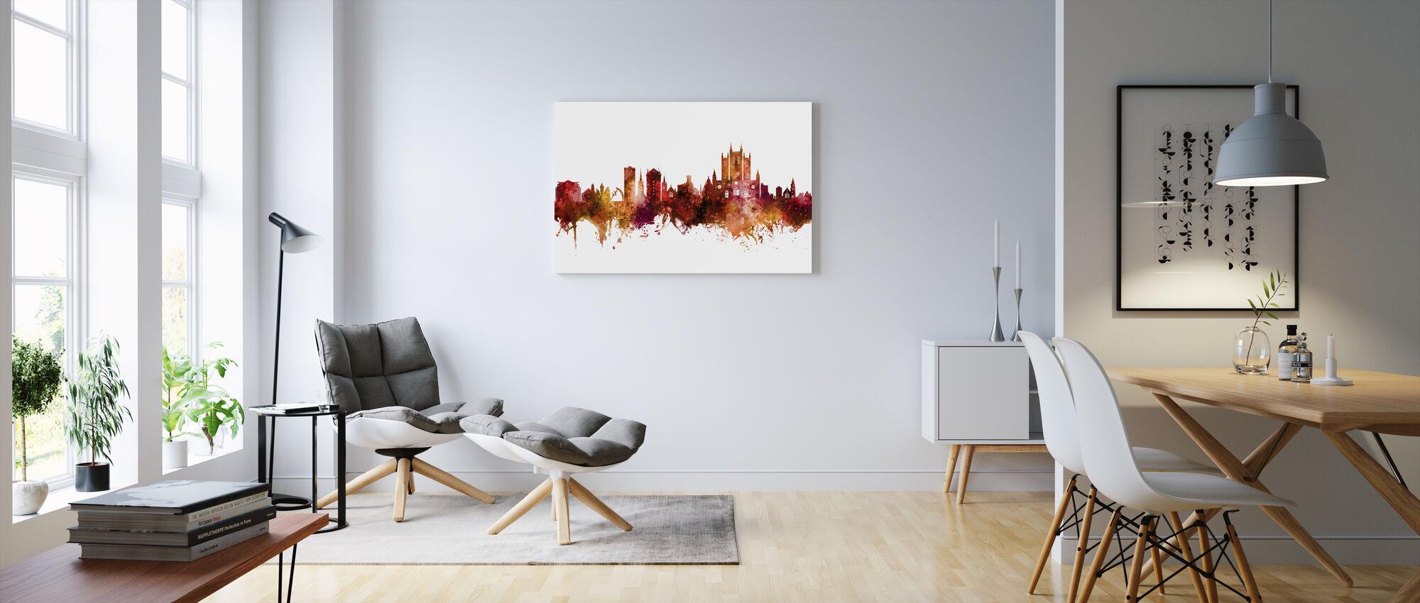Lincoln England Skyline - Canvas print - Living Room