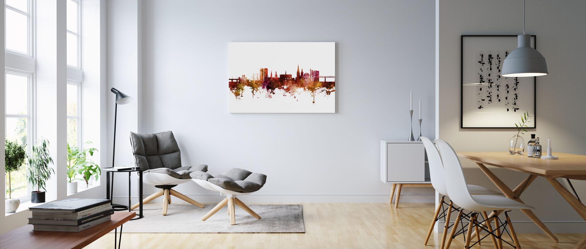 Dundee Scotland Skyline - Canvas print - Living Room
