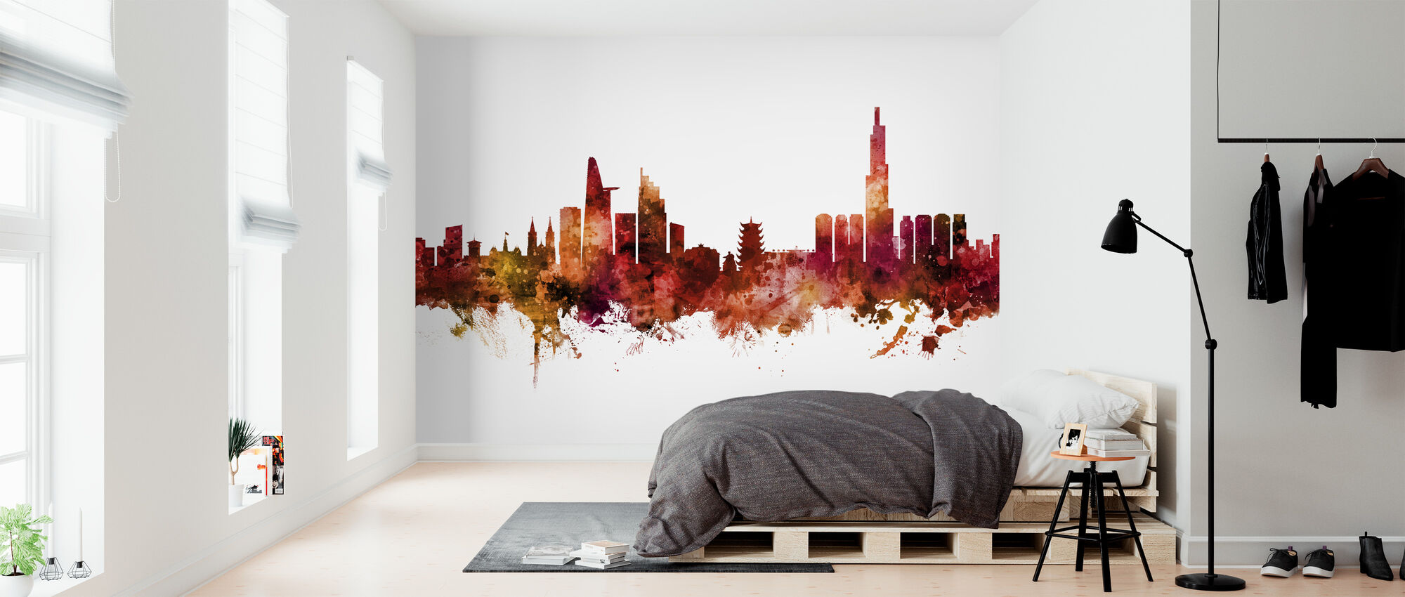 Ho Chi Minh City Vietnam Skyline - Wallpaper - Bedroom