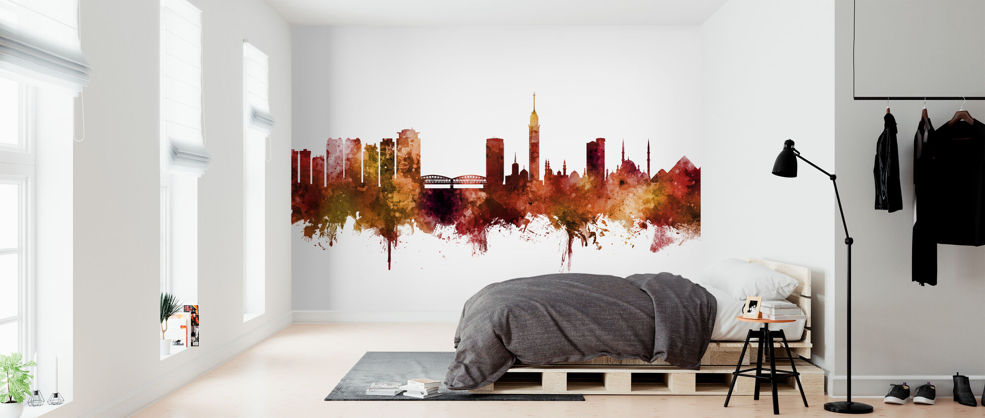 Cairo Egypt Skyline - Wallpaper - Bedroom