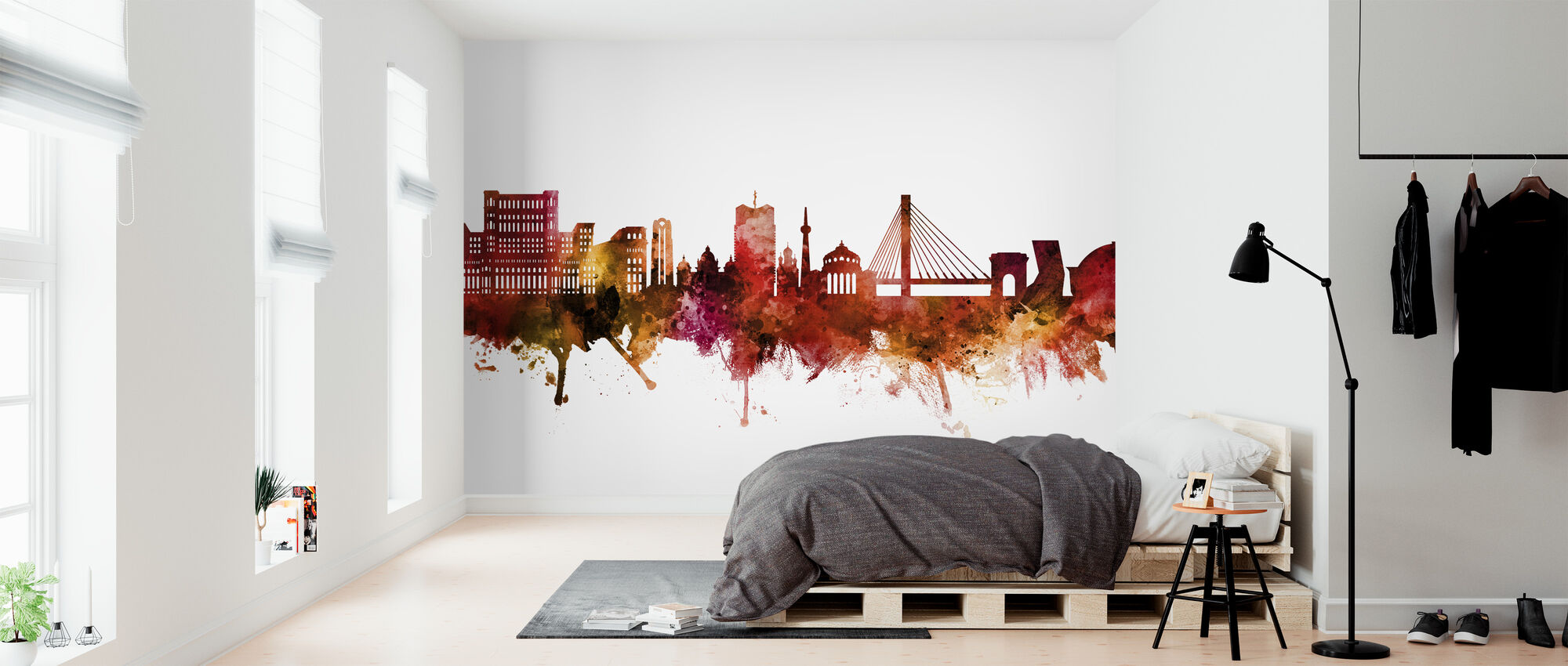 Bucharest Romania Skyline - Wallpaper - Bedroom