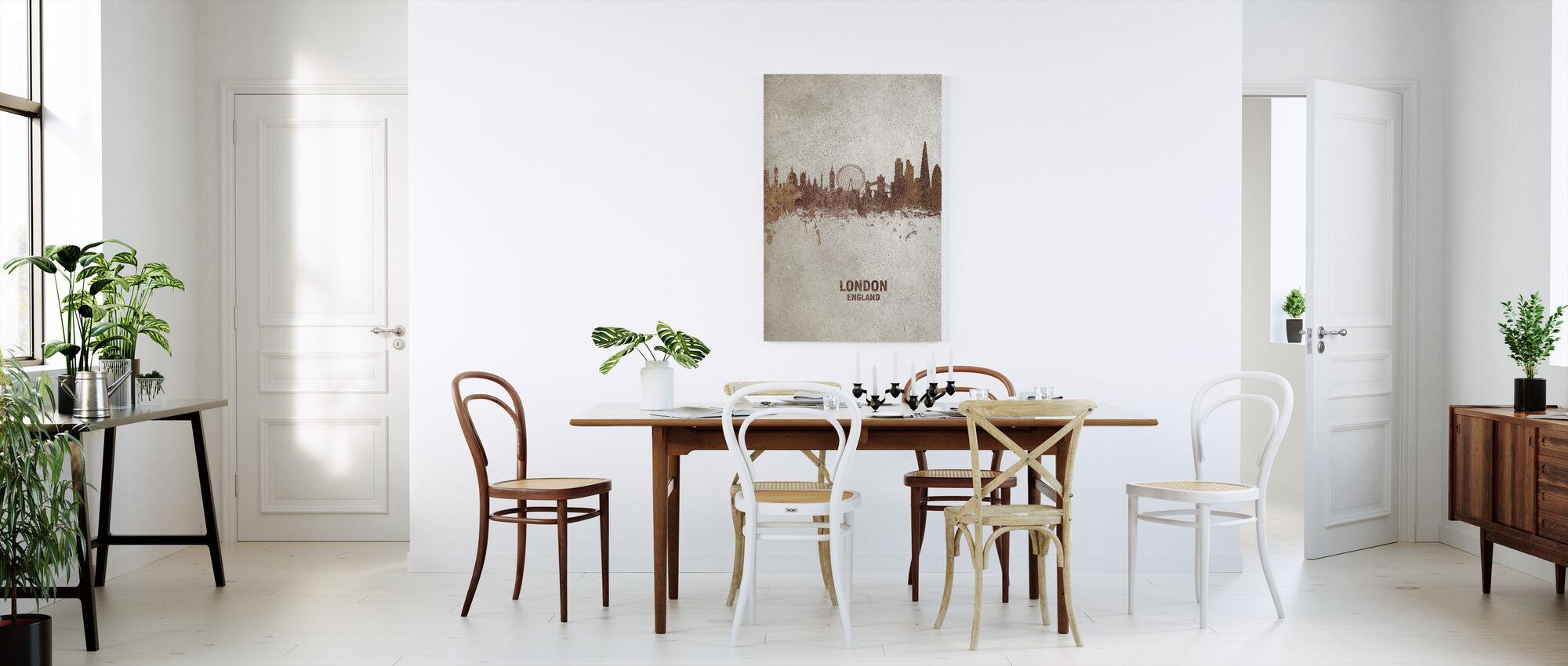 London England Rust Skyline - Canvas print - Kitchen