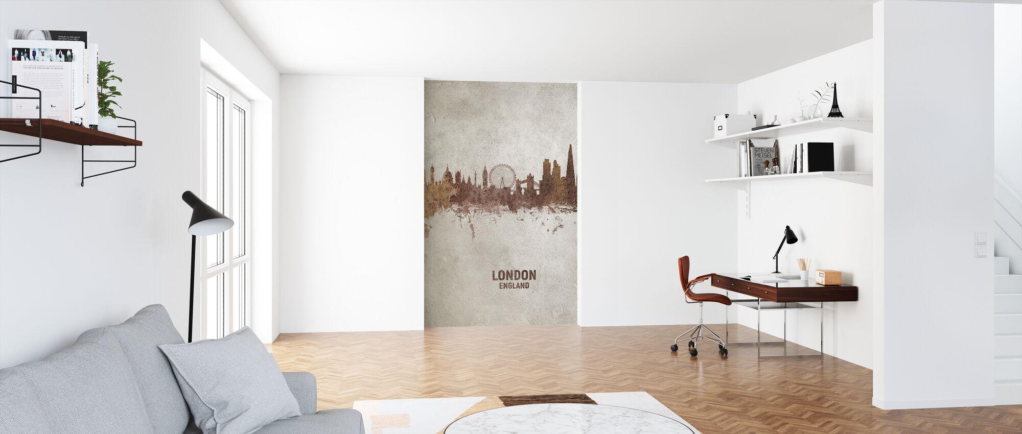 London England Rust Skyline - Wallpaper - Office
