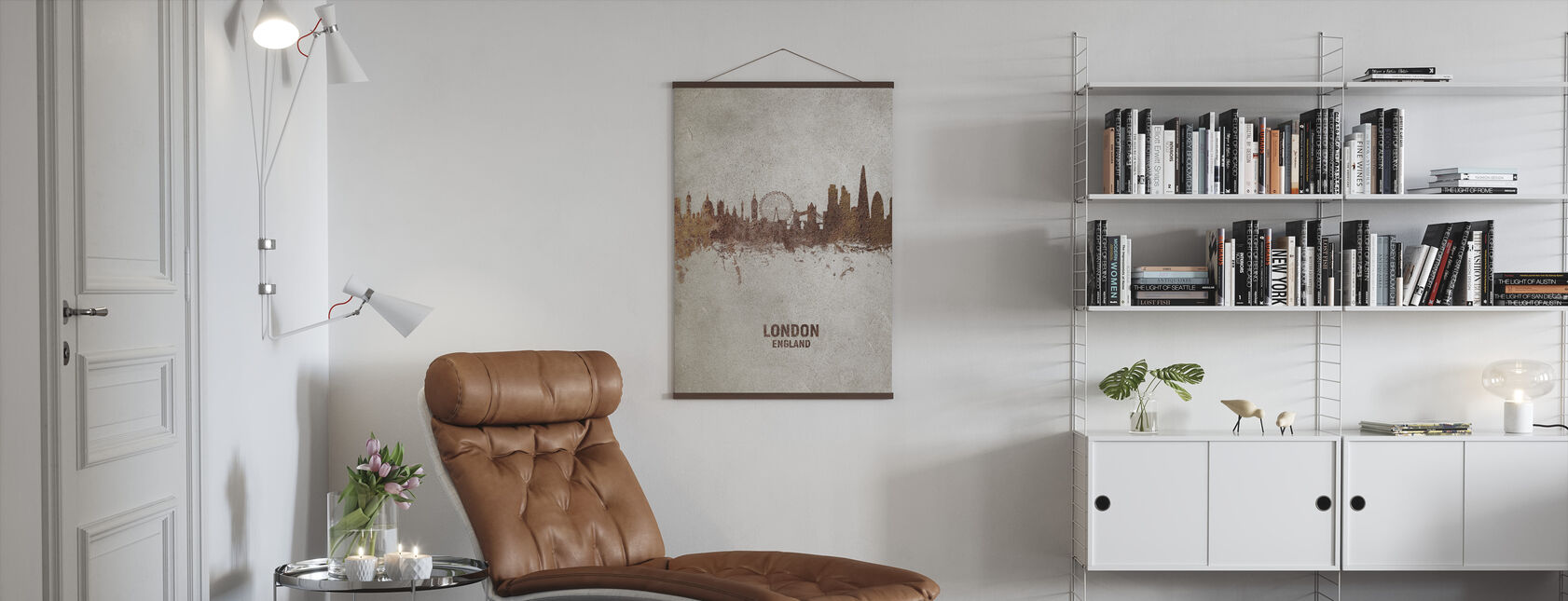 London England Rust Skyline - Poster - Living Room