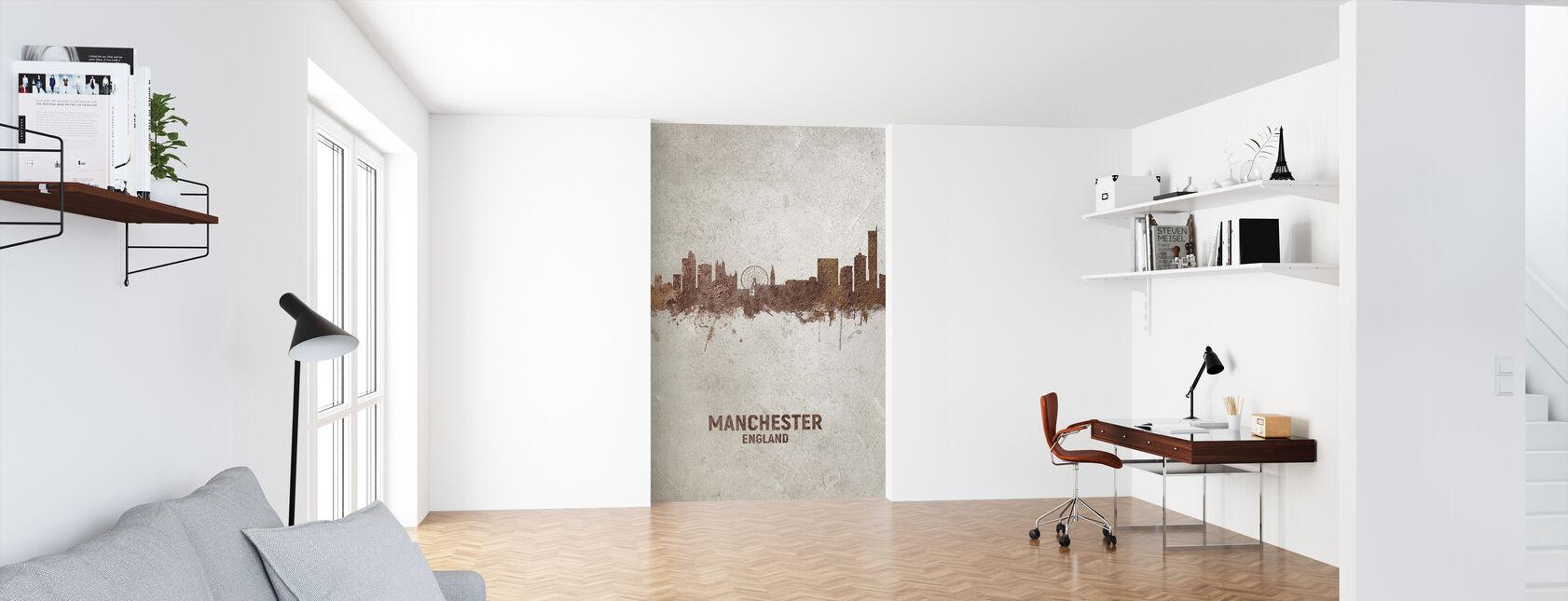 Manchester England Rust Skyline - Wallpaper - Office