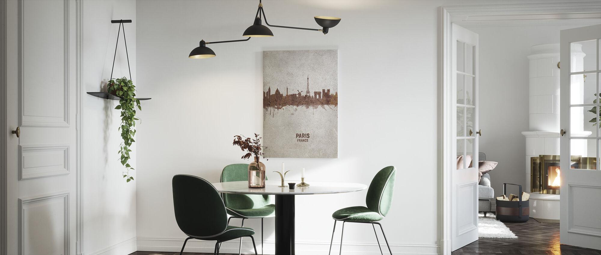 Paris France Rust Skyline - Canvas print - Kitchen