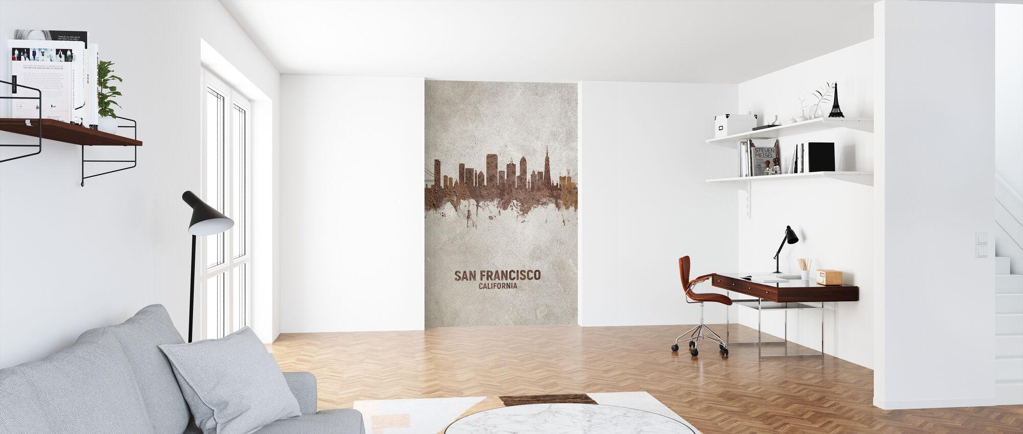 San Francisco California Rust Skyline - Wallpaper - Office