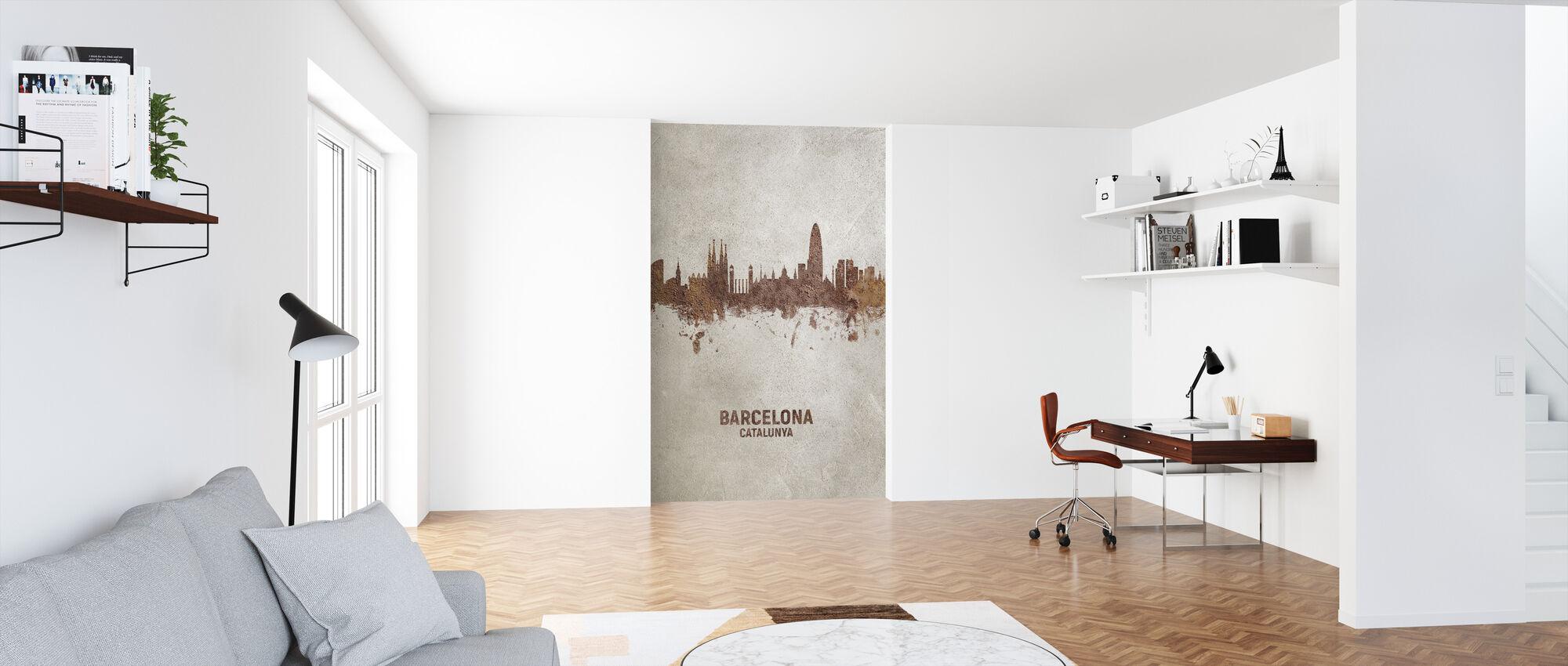 Barcelona Spania Rust Skyline - Tapet - Kontor