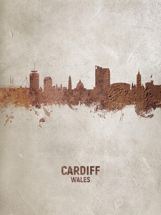Cardiff Wales Skyline - Canvas print