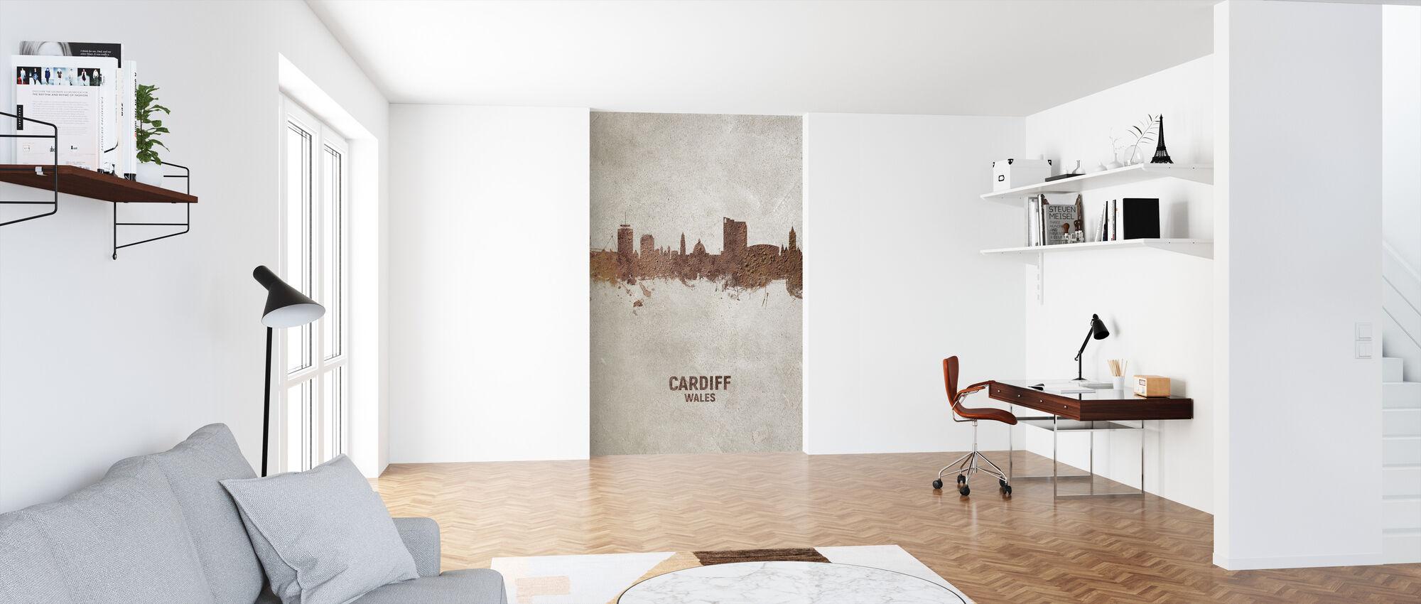 Cardiff Wales Skyline - Wallpaper - Office