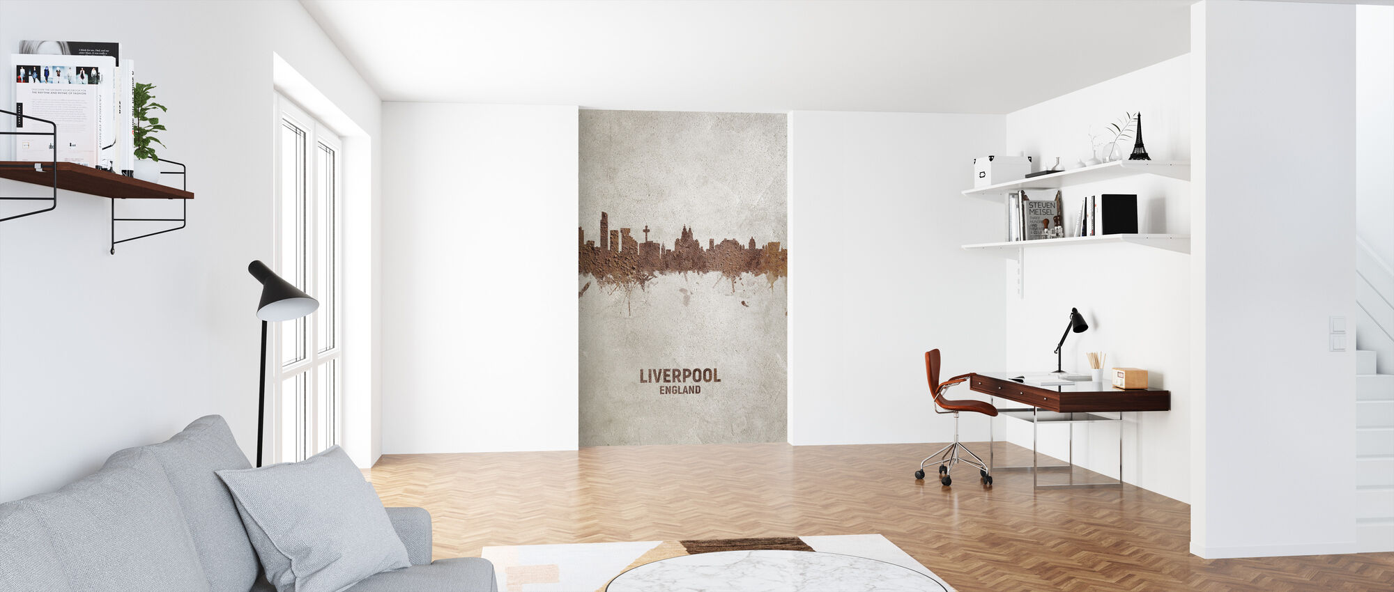 Liverpool England Rust Skyline - Wallpaper - Office
