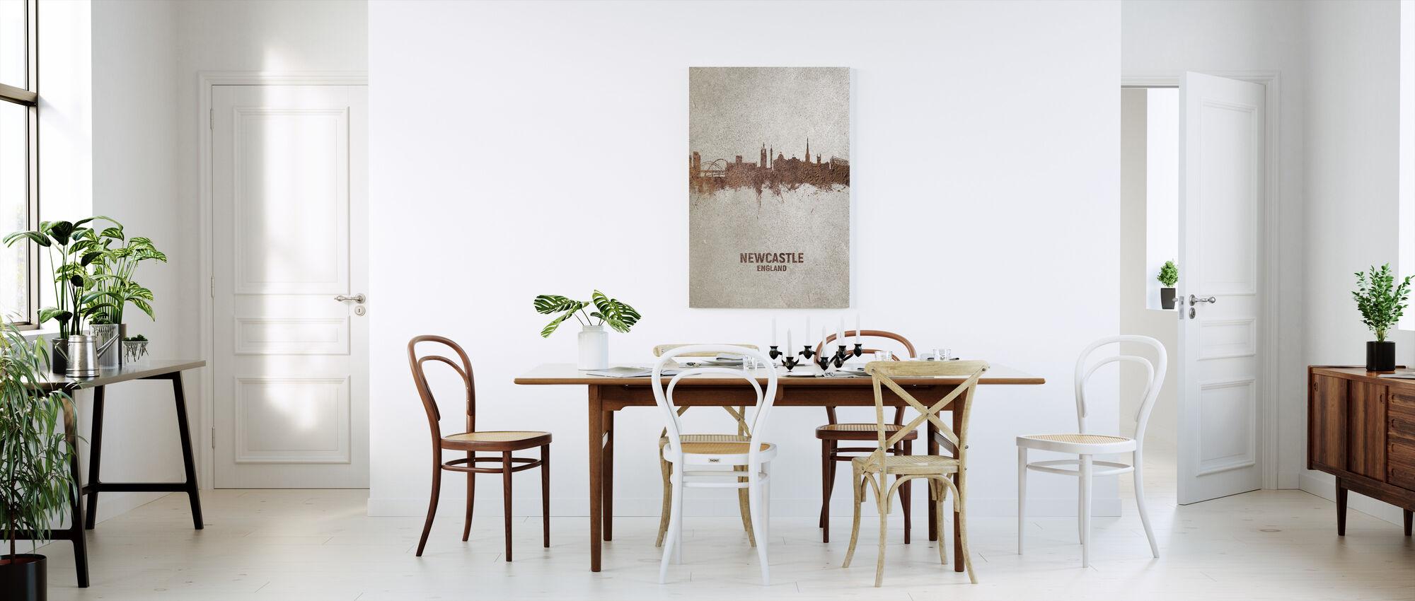 Newcastle England Rust Skyline - Canvas print - Kitchen