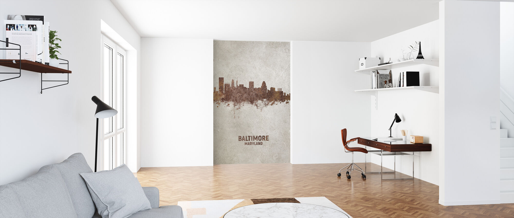 Baltimore Maryland Rust Skyline - Wallpaper - Office