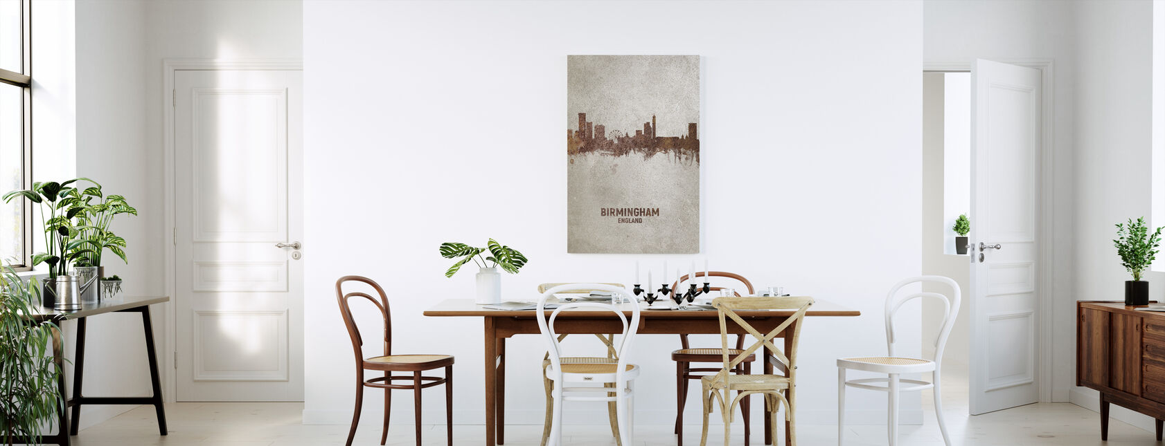 Birmingham England Rust Skyline - Canvas print - Kitchen