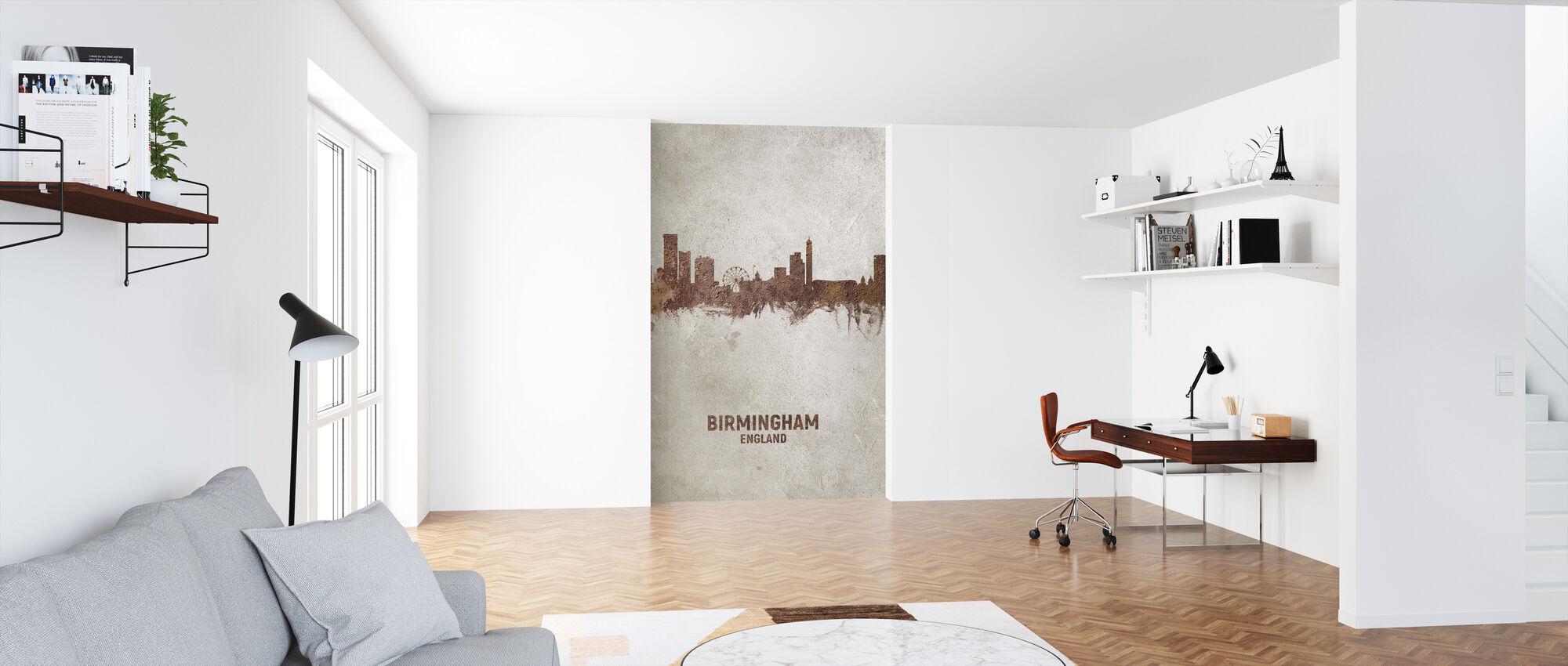 Birmingham England Rust Skyline - Wallpaper - Office
