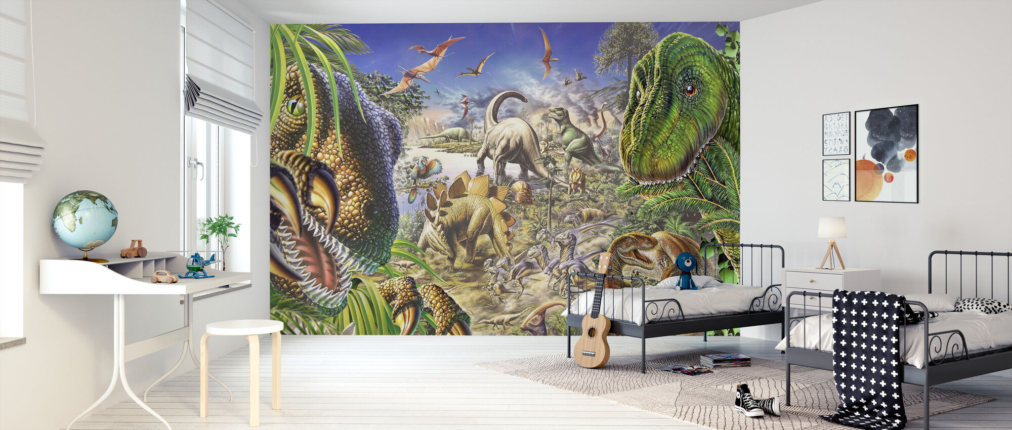 Dinosaurier World - Tapet - Barnrum