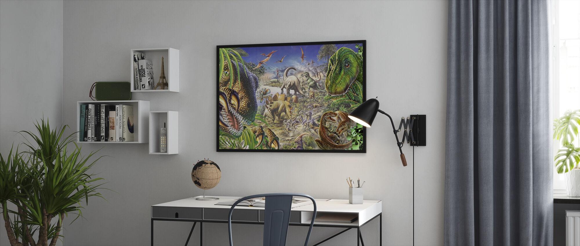 Dinosaurer verden - Innrammet bilde - Kontor