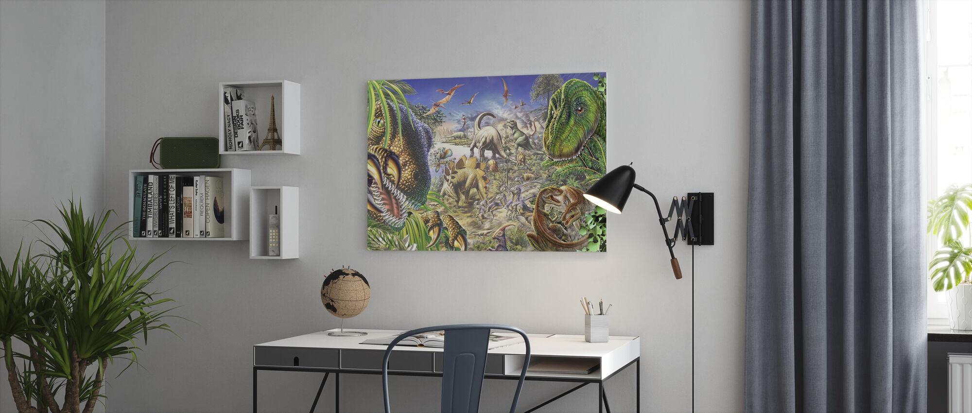Dinosaurussen Wereld - Canvas print - Kantoor