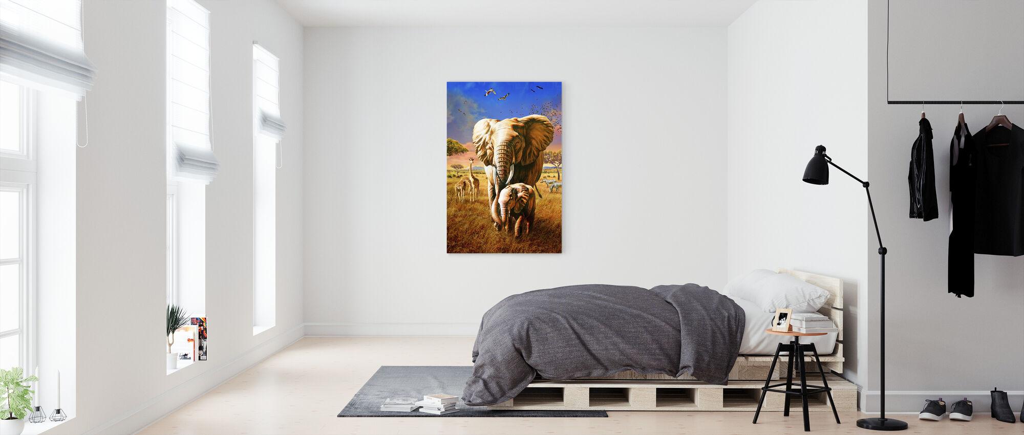 Elephant - Canvas print - Bedroom