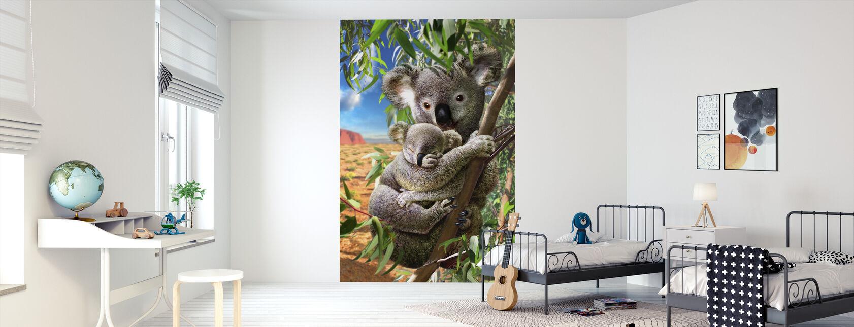Koala and cub - Wallpaper - Kids Room