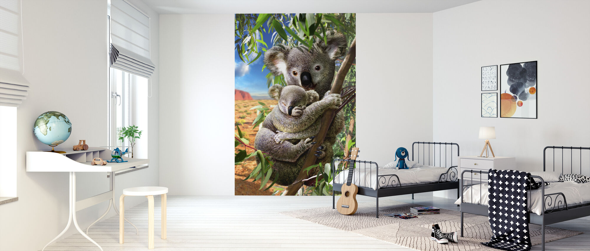 Koala and cub - Wallpaper - Kids Room