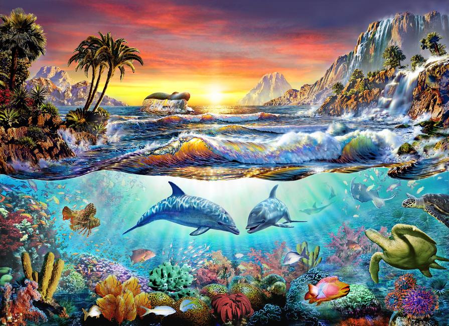 Kuva Paradise bay Tapetit / tapetti 100 x 100 cm