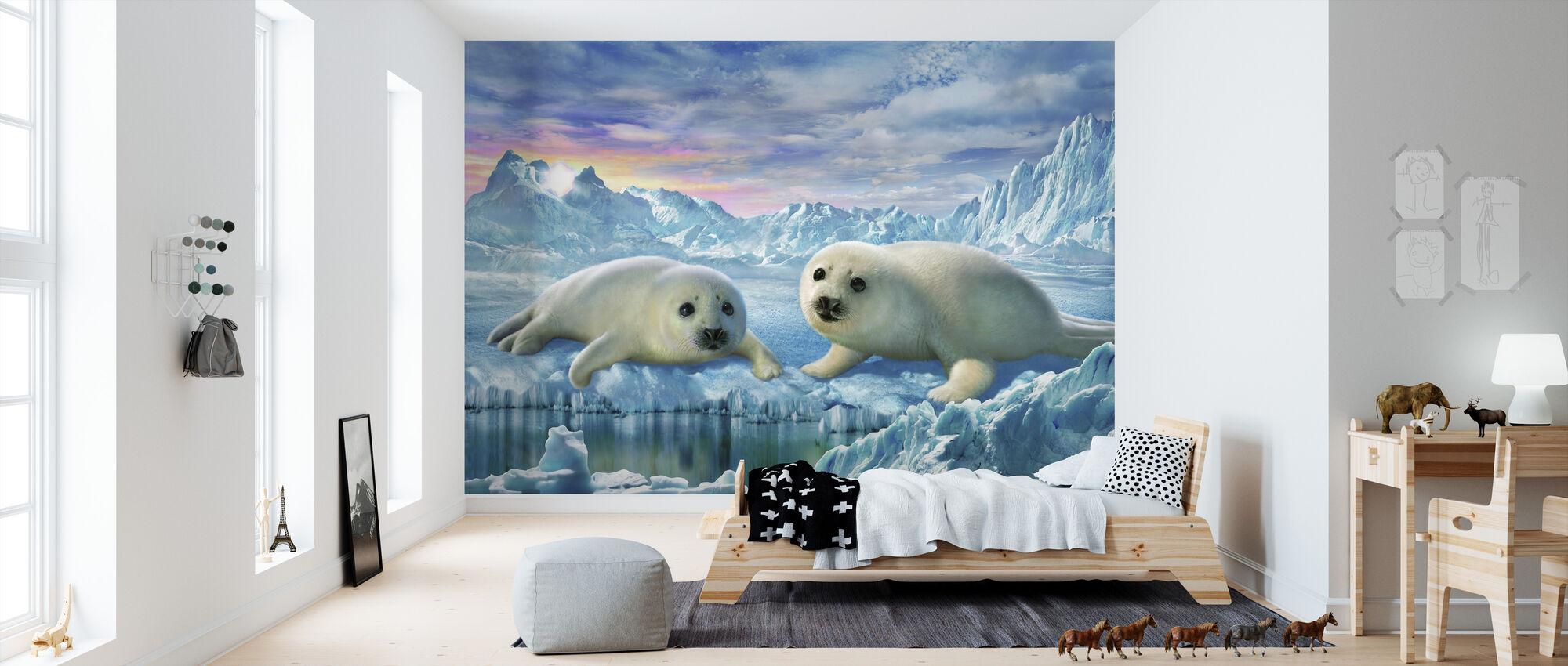 Seal Pups - Wallpaper - Kids Room