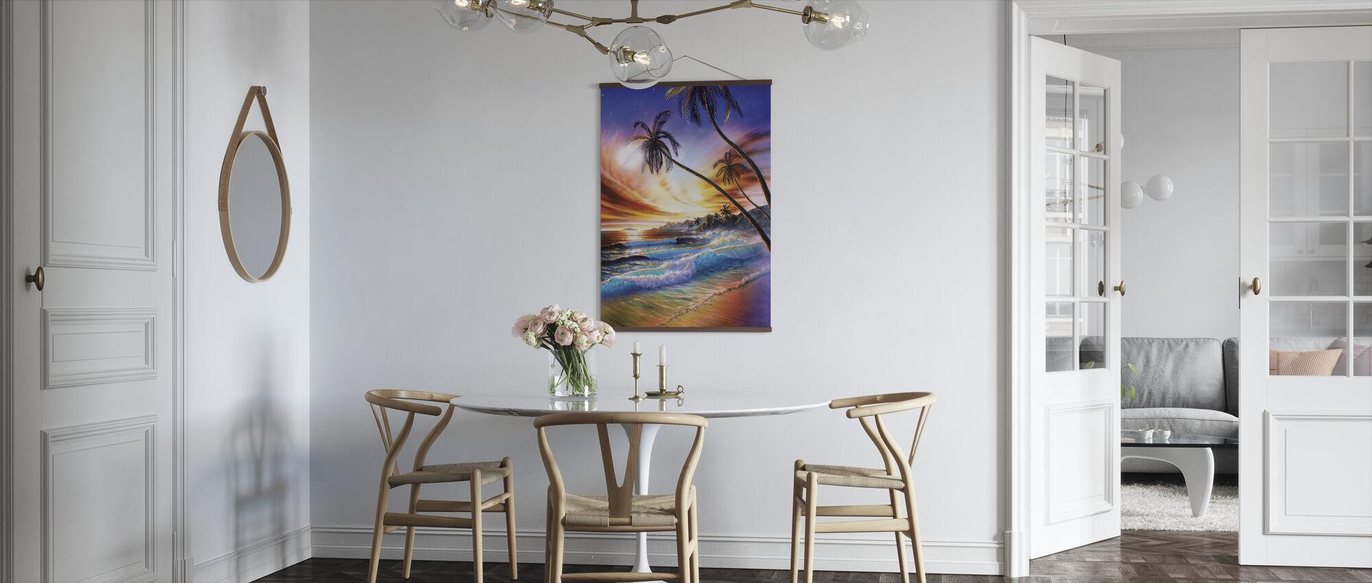 Tropisk strand - Plakat - Kjøkken