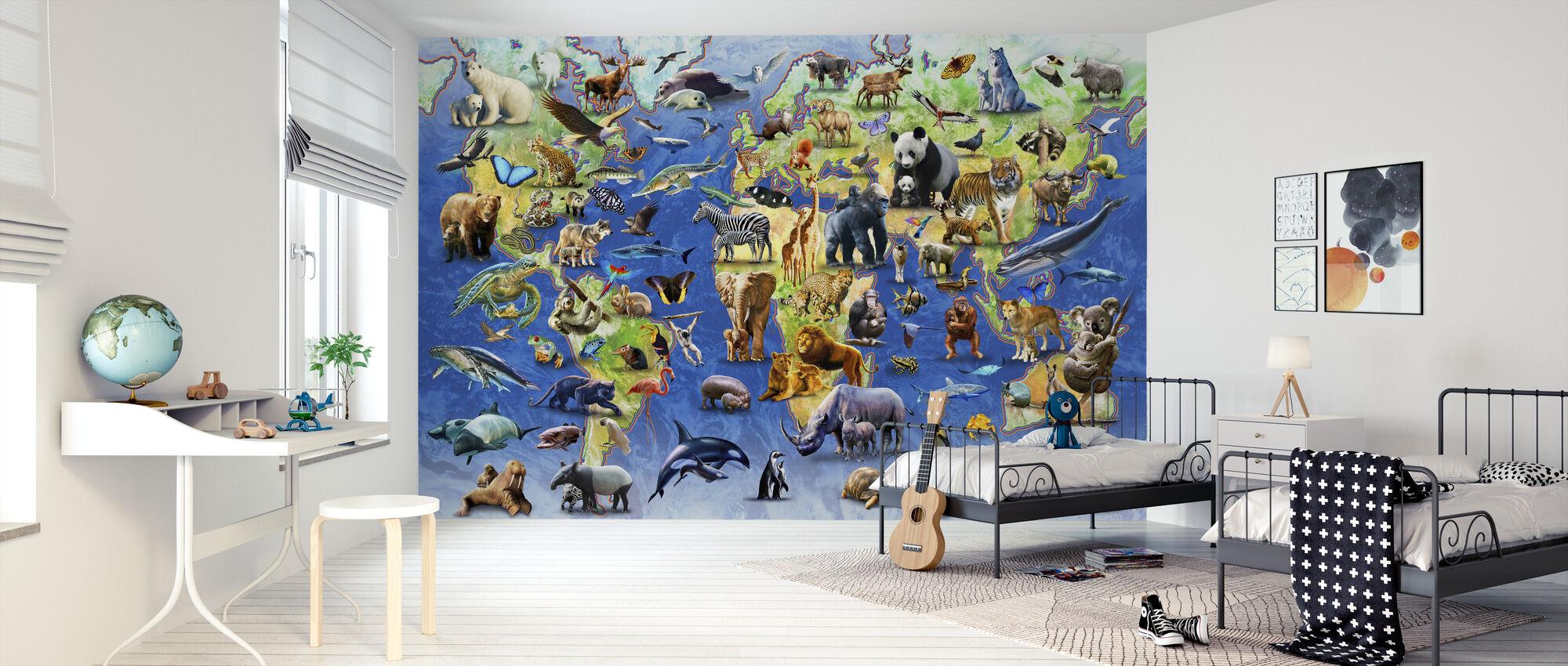 Honderd bedreigde soorten - Behang - Kinderkamer