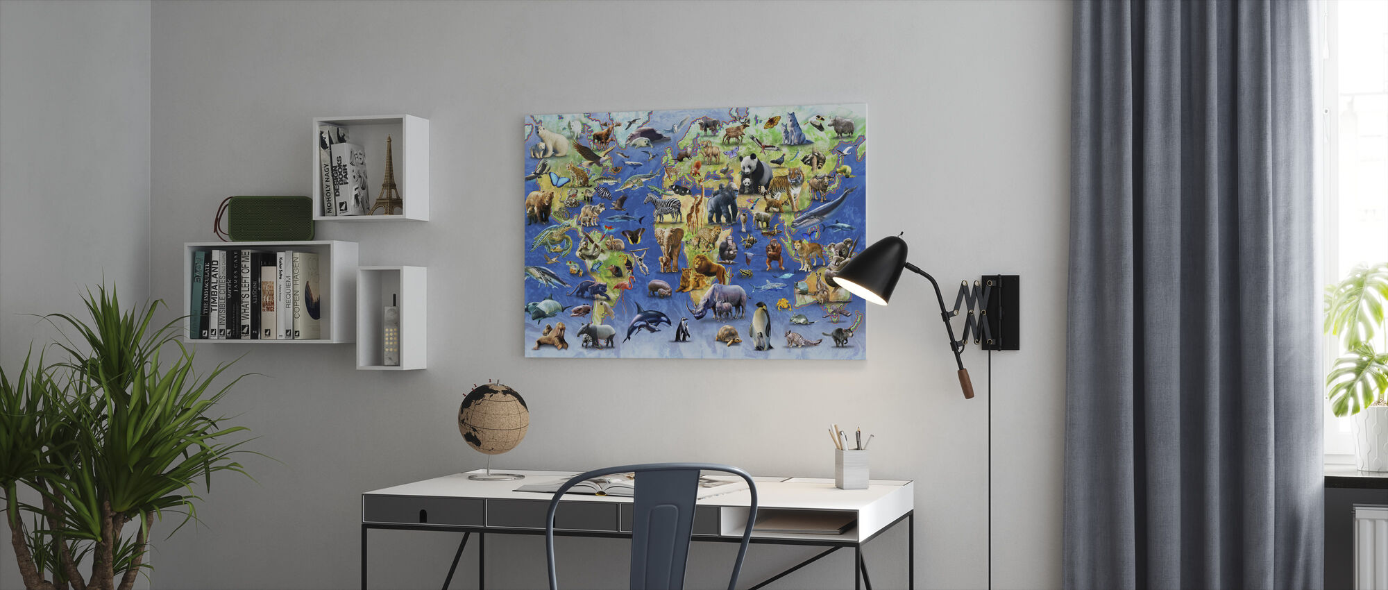 One Hundred Endangered Species - Canvas print - Office
