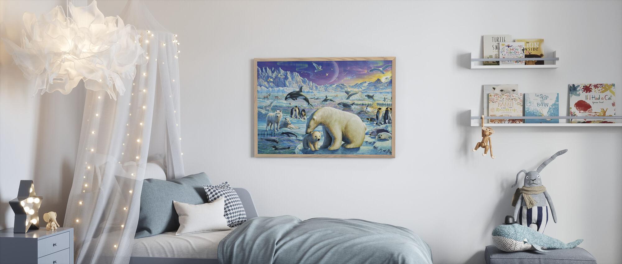 Arctic Night - Framed print - Kids Room