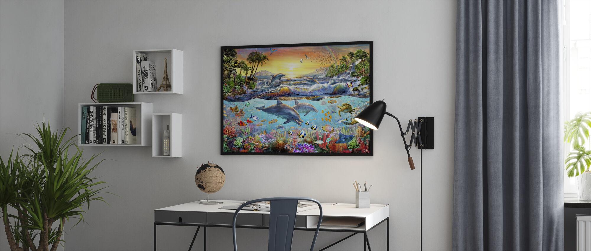 Tropisk bukt - Innrammet bilde - Kontor