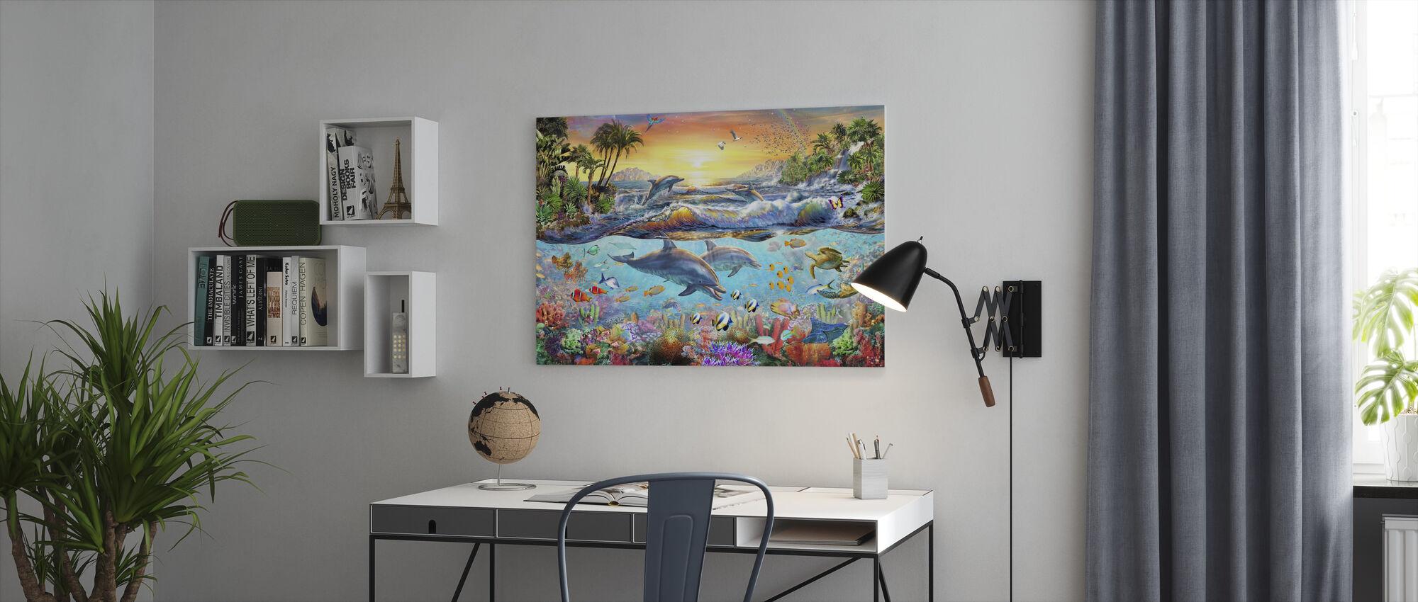 Tropische baai - Canvas print - Kantoor