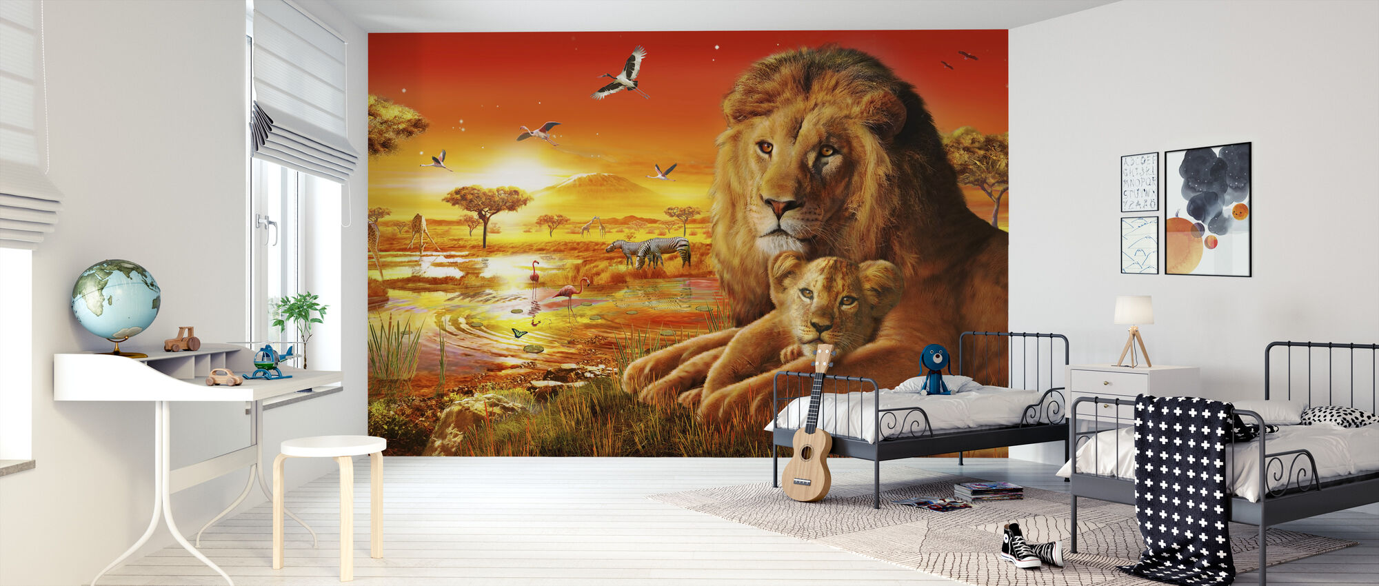 Savanna Sundown - Wallpaper - Kids Room