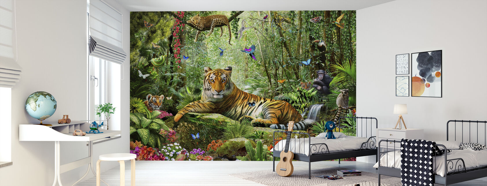 Tijger in de jungle - Behang - Kinderkamer