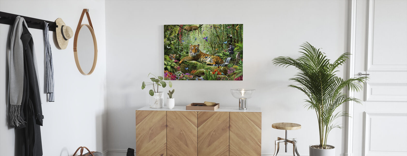 Tijger in de jungle - Canvas print - Gang
