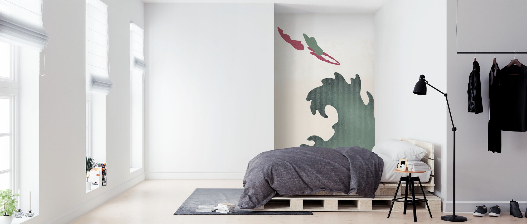 Holy Diver - Green - Wallpaper - Bedroom
