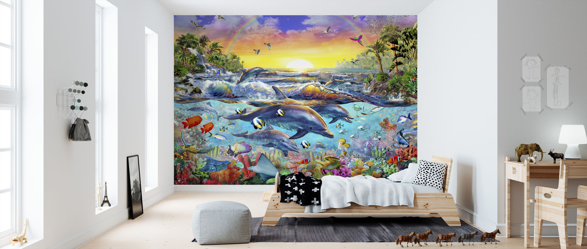 Tropical Cove - Wallpaper - Kids Room