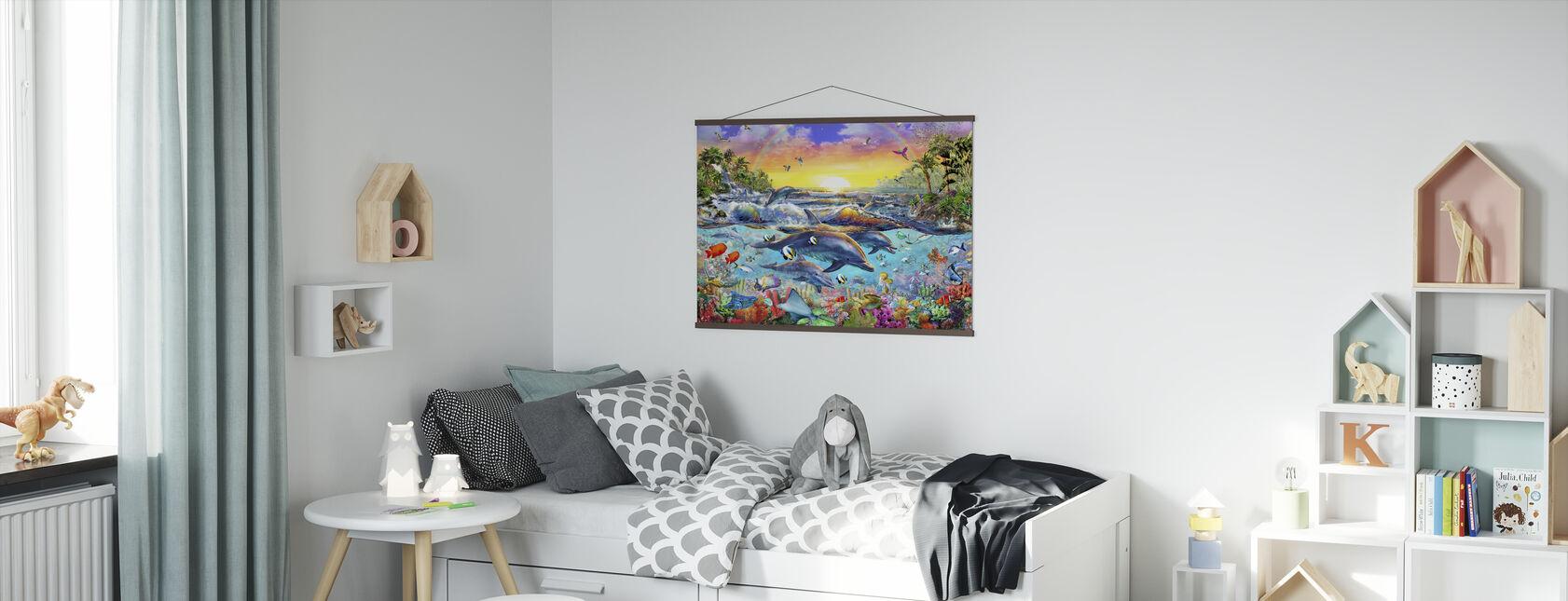 Tropische baai - Poster - Kinderkamer