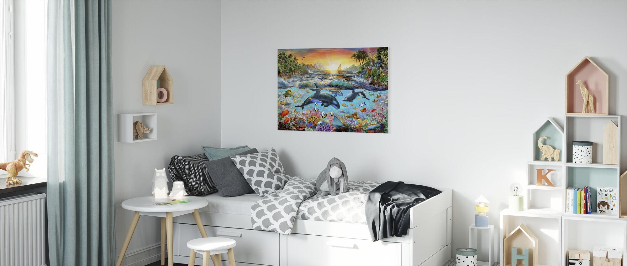 Orca Paradijs - Canvas print - Kinderkamer