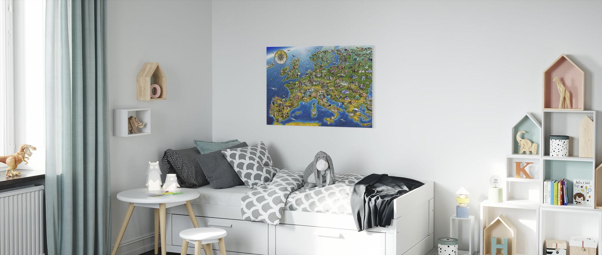 Europese oriëntatiepunten - Canvas print - Kinderkamer