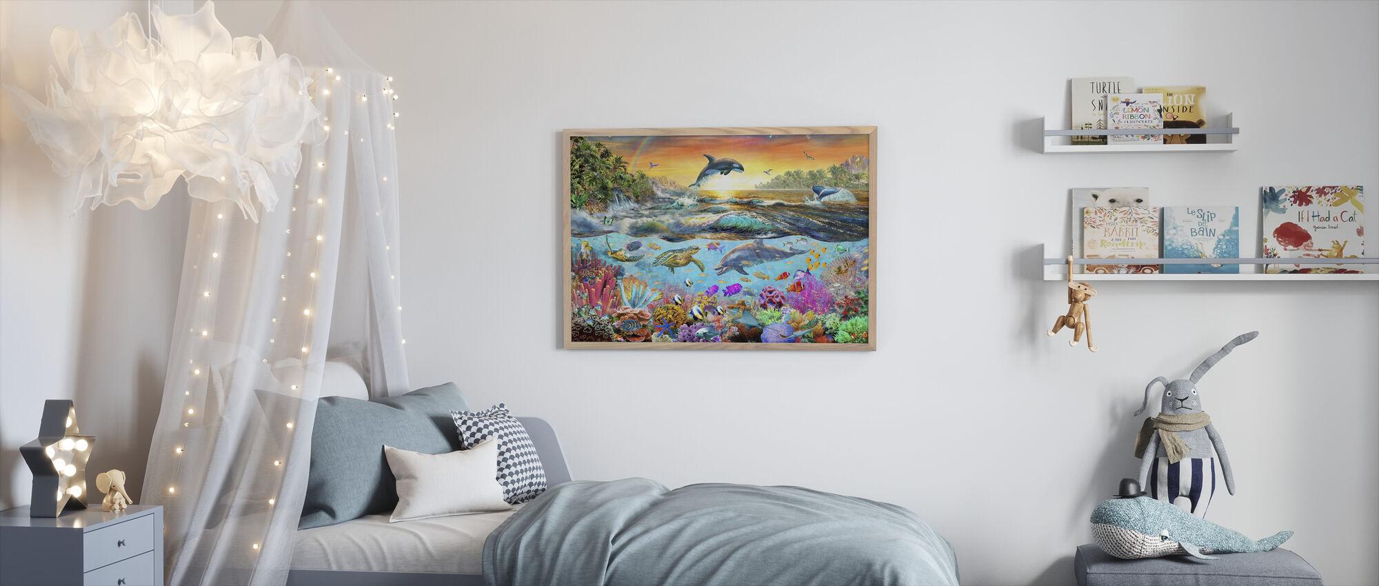 Tropisk paradis - Innrammet bilde - Barnerom