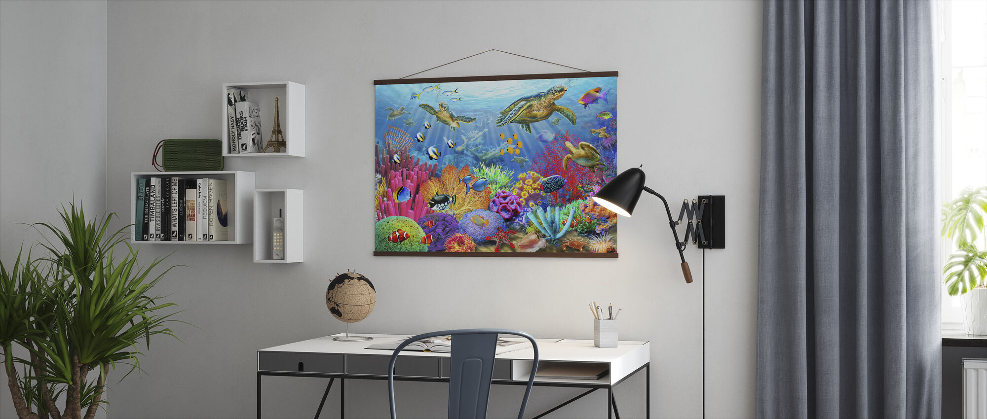 Turtle Coral Reef - Poster - Office