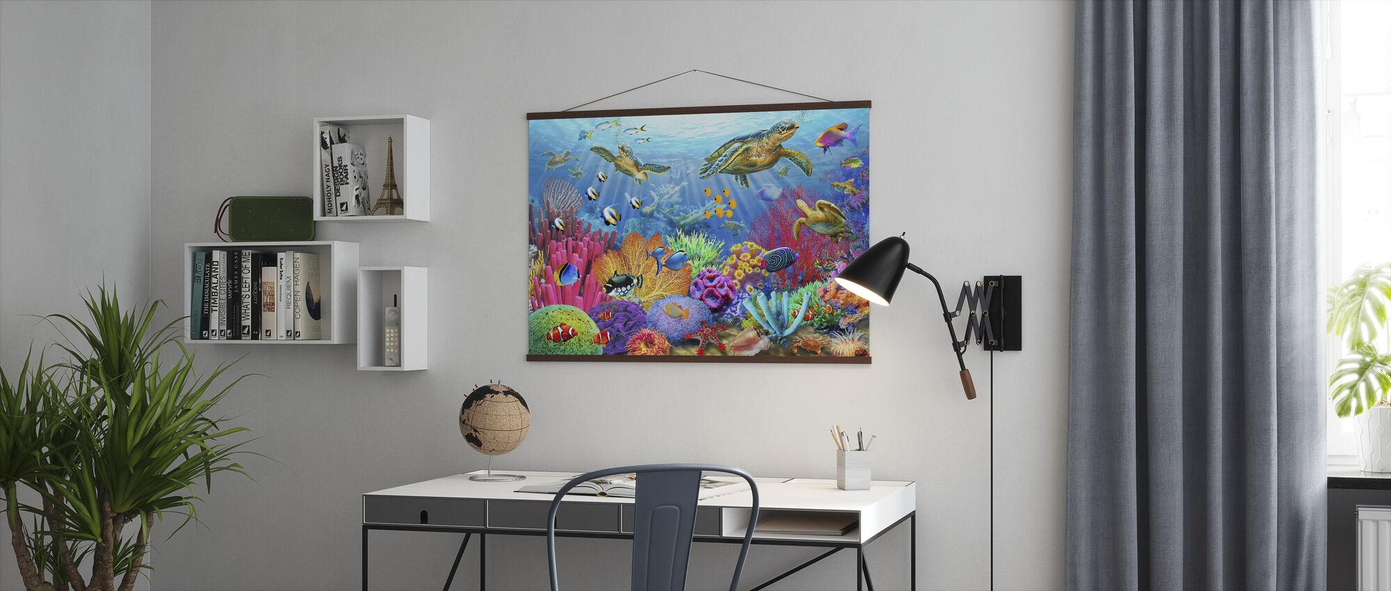 Skilpadde Korallrev - Plakat - Kontor
