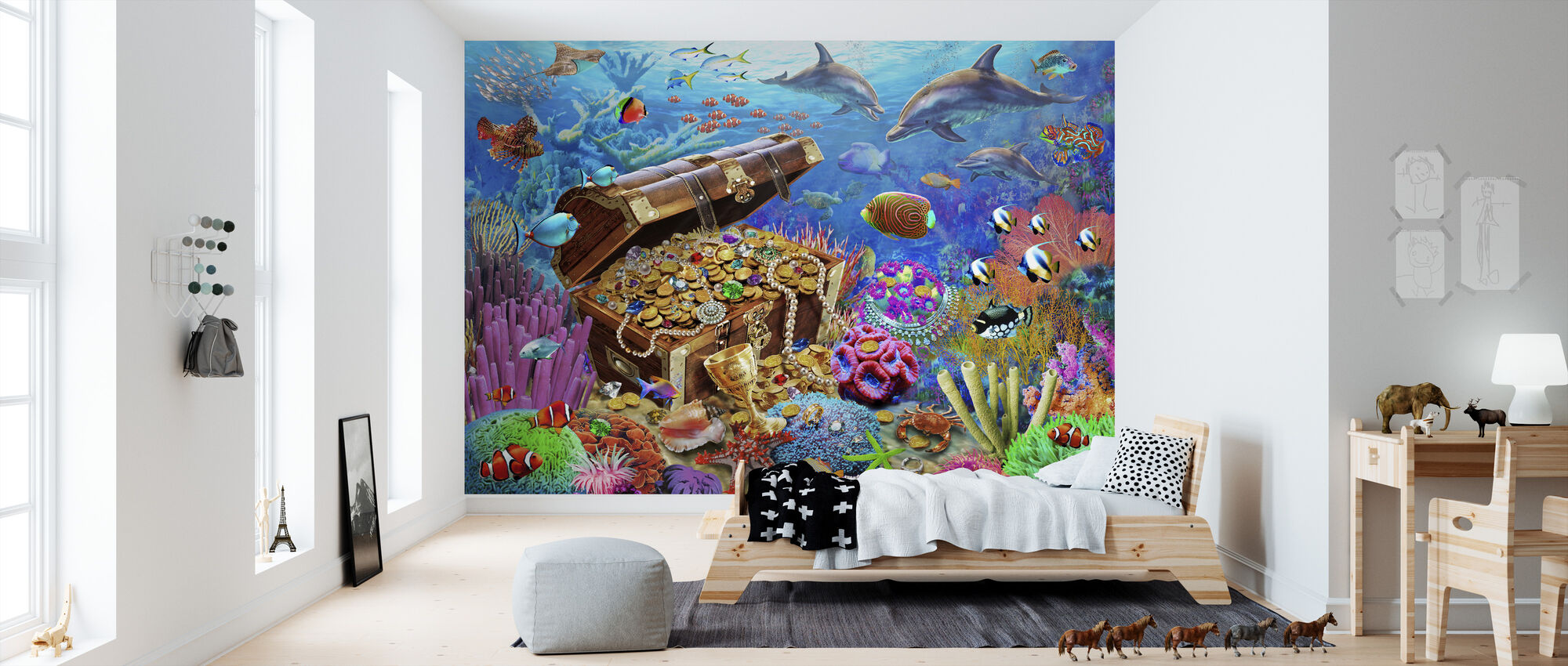 Podmorski Skarb - Tapeta - Pokój dziecięcy
